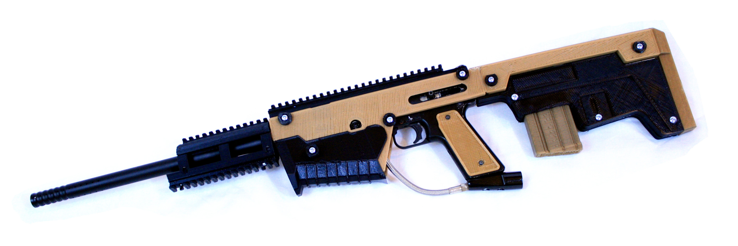 TAR-68 Bullpup Rifle - 3D printed paintball marker