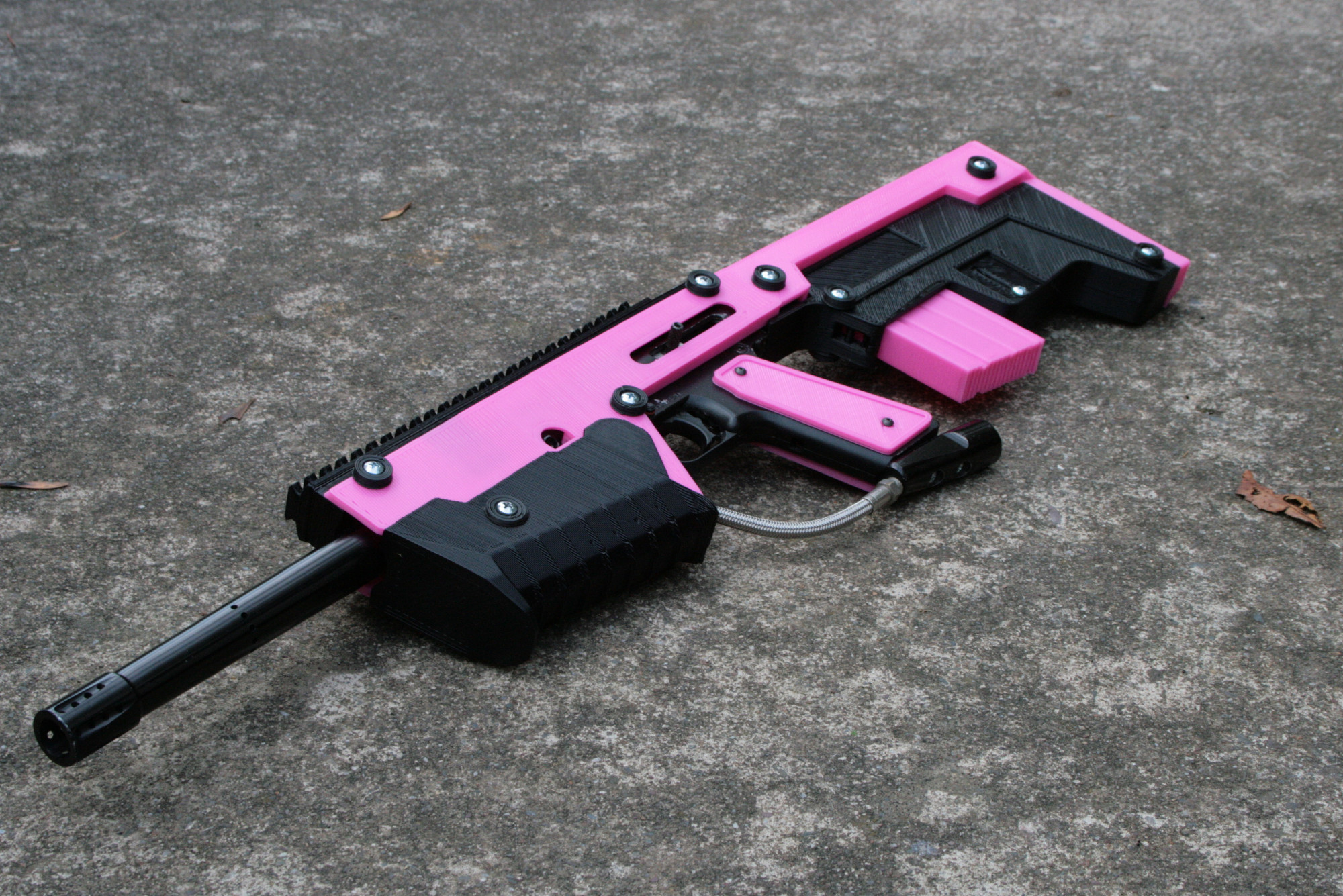 how to make a 3d printed paintball gun